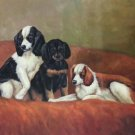 """Simple modern Hand-painted oil painting on canvas""""Cute dog""""60x90CM(23.6""""x35.4"""")Unframe-13"""