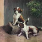 "Simple modern Hand-painted oil painting on canvas""Cute dog""60x90CM(23.6""x35.4"")Unframe-14"