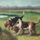 "Simple modern Hand-painted oil painting on canvas""Cute dog""60x90CM(23.6""x35.4"")Unframe-15"