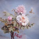 """Hand painted oil painting on canvas""""Peony""""100x100CM(40""""x40"""")Unframed-33"""