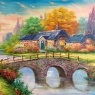 """Hand painted oil painting on canvas""""Creek""""60x120CM(23.6""""x47.2"""")Unframed-508"""