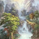 """American style Hand painted oil painting on canvas""""Creek""""80x150CM(33""""x60"""")Unframed-517"""