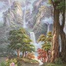 """Hand painted oil painting on canvas""""Creek""""80x160CM(33""""x63"""")Unframed-521"""