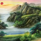 """American style Hand painted oil painting on canvas""""Creek""""70x180CM(27.6""""x70.9"""")Unframed-532"""