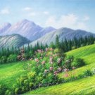 """American style Hand painted oil painting on canvas""""Creek""""70x180CM(27.6""""x70.9"""")Unframed-536"""