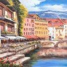"European style Hand painted oil painting on canvas""Venice""70x180CM(30""x72"")Unframed-39"