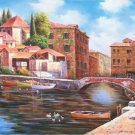 "European style Hand painted oil painting on canvas""Venice""70x180CM(30""x72"")Unframed-40"