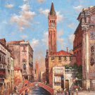 "European styleHand painted oil painting on canvas""Venice""80x160CM(33""x63"")Unframed-42"