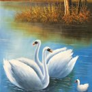 "Simple modern Hand painted oil painting on canvas""swan""60x120CM(23.6""x47.2"")Unframed-34"
