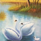 "Simple modern Hand painted oil painting on canvas""swan""60x120CM(23.6""x47.2"")Unframed-35"