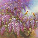 "Hand painted oil painting on canvas""Peach blossom""60x120CM(24""x48"")Unframed-90"