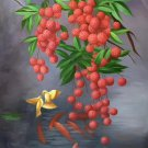 "Hand painted oil painting on canvas""Litchi""60x90CM(23.6""x35.4"")Unframed-89"