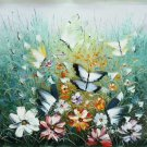 "Hand painted oil painting on canvas""Butterfly""50x60CM(19.7""x23.6"")Unframed-98"