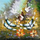 """Hand painted oil painting on canvas""""Butterfly""""50x60CM(19.7""""x23.6"""")Unframed-99"""