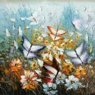 """Hand painted oil painting on canvas""""Butterfly""""50x60CM(19.7""""x23.6"""")Unframed-100"""