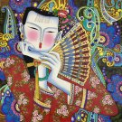 """Hand painted oil painting on canvas""""Chinese style""""75x75CM(30""""x30"""")Unframed-103"""