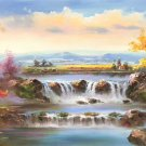 "American style Hand painted oil painting on canvas""Creek""70x180CM(27.6""x70.9"")Unframed-540"