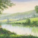 "American style Hand painted oil painting on canvas""Creek""60x160CM(24""x63"")Unframed-542"