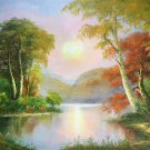 """Hand painted oil painting on canvas""""Creek""""60x90CM(23.6""""x35.4"""")Unframed-544"""