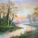 """Hand painted oil painting on canvas""""Creek""""60x90CM(23.6""""x35.4"""")Unframed-545"""