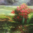 "Hand painted oil painting on canvas""Creek""60x120CM(23.6""x47.2"")Unframed-549"