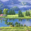 "Hand painted oil painting on canvas""Creek""60x120CM(23.6""x47.2"")Unframed-550"