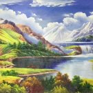 """Hand painted oil painting on canvas""""Creek""""80x200CM(33""""x79"""")Unframed-551"""
