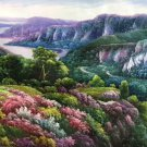 """Hand painted oil painting on canvas""""Creek""""80x200CM(33""""x79"""")Unframed-552"""