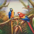 "Hand painted oil painting on canvas""Colorful parrot""60x90CM(24""x36"")Unframed-19"