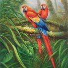 "Hand painted oil painting on canvas""Colorful parrot""60x90CM(24""x36"")Unframed-21"