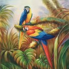 """Hand painted oil painting on canvas""""Colorful parrot""""60x90CM(24""""x36"""")Unframed-26"""