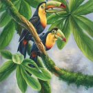 "Hand painted oil painting on canvas""Colorful parrot""60x90CM(24""x36"")Unframed-27"