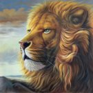 """Simple modern Hand painted oil painting on canvas""""lion""""80x80CM(33""""x33"""")Unframed-03"""