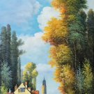 """Hand painted oil painting on canvas""""Image of the countryside""""60x120CM(23.6""""x47.2"""")Unframed-170"""