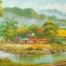 """Hand painted oil painting on canvas""""Image of the countryside""""70x180CM(27.6""""x70.9"""")Unframed-171"""