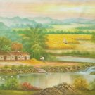"""Hand painted oil painting on canvas""""Image of the countryside""""70x180CM(27.6""""x70.9"""")Unframed-173"""