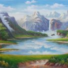 "Hand painted oil painting on canvas""Creek""60x120CM(23.6""x47.2"")Unframed-572"