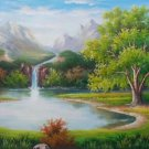 "Hand painted oil painting on canvas""Creek""60x120CM(23.6""x47.2"")Unframed-573"