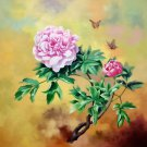 "Hand painted oil painting on canvas""Peony""80x80CM(33""x33"")Unframed-35"