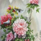 """Hand painted oil painting on canvas""""Peony""""60x120CM(24""""x48"""")Unframed-40"""
