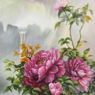 """Hand painted oil painting on canvas""""Peony""""60x120CM(24""""x48"""")Unframed-41"""