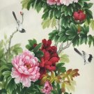 """Hand painted oil painting on canvas""""Peony""""60x120CM(24""""x48"""")Unframed-42"""