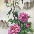 "Hand painted oil painting on canvas""Peony""60x120CM(24""x48"")Unframed-44"