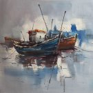 "Simple modern Hand painted oil painting on canvas""Fishing boat""50x60CM(19.7""x23.6"")Unframed-75"