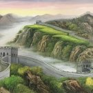 "Chinese style Hand painted oil painting on canvas""Great Wall""70x180CM(27.6""x70.9"")Unframed-11"