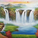"""Hand painted oil painting on canvas""""Creek""""60x120CM(23.6""""x47.2"""")Unframed-574"""