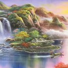 "Hand painted oil painting on canvas""Creek""90x250CM(36""x98"")Unframed-577"