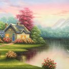 "European style Hand-painted oil painting on canvas""mind home""70x180CM(27.6""x70.9"")Unframed-35"