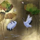 "Chinese style Hand painted oil painting on canvas""Red-crowned crane""50x60CM(19.7""x23.6"")Unframed-11"
