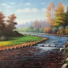 "American style Hand painted oil painting on canvas""Creek""70x180CM(27.6""x70.9"")Unframed-590"